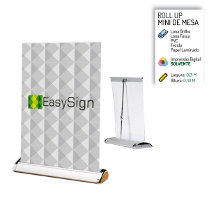 Banner Roll Up Mini de Mesa