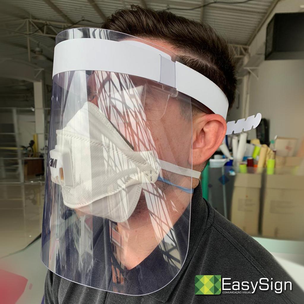 Máscara face shield coronavirus