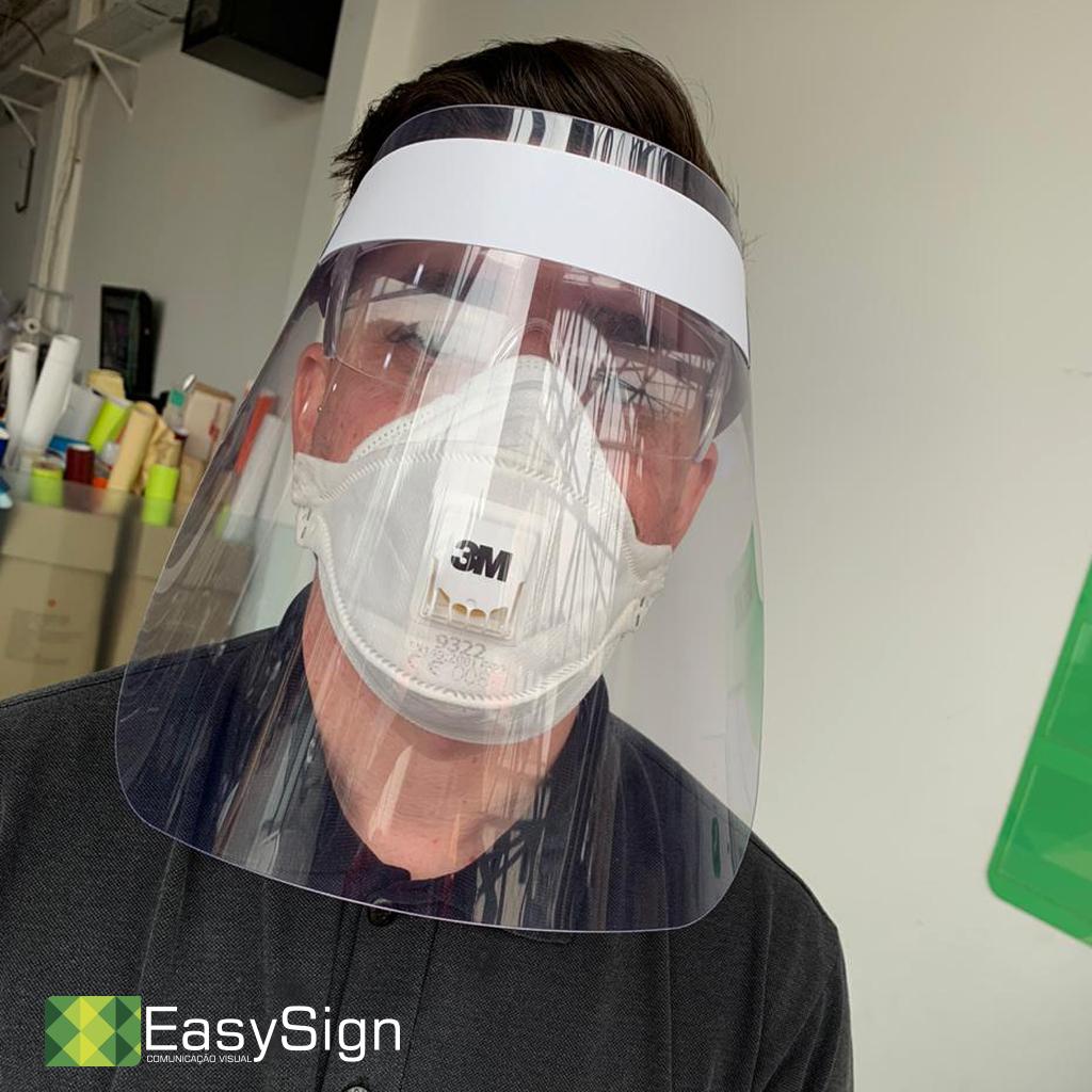 máscara face shield nova