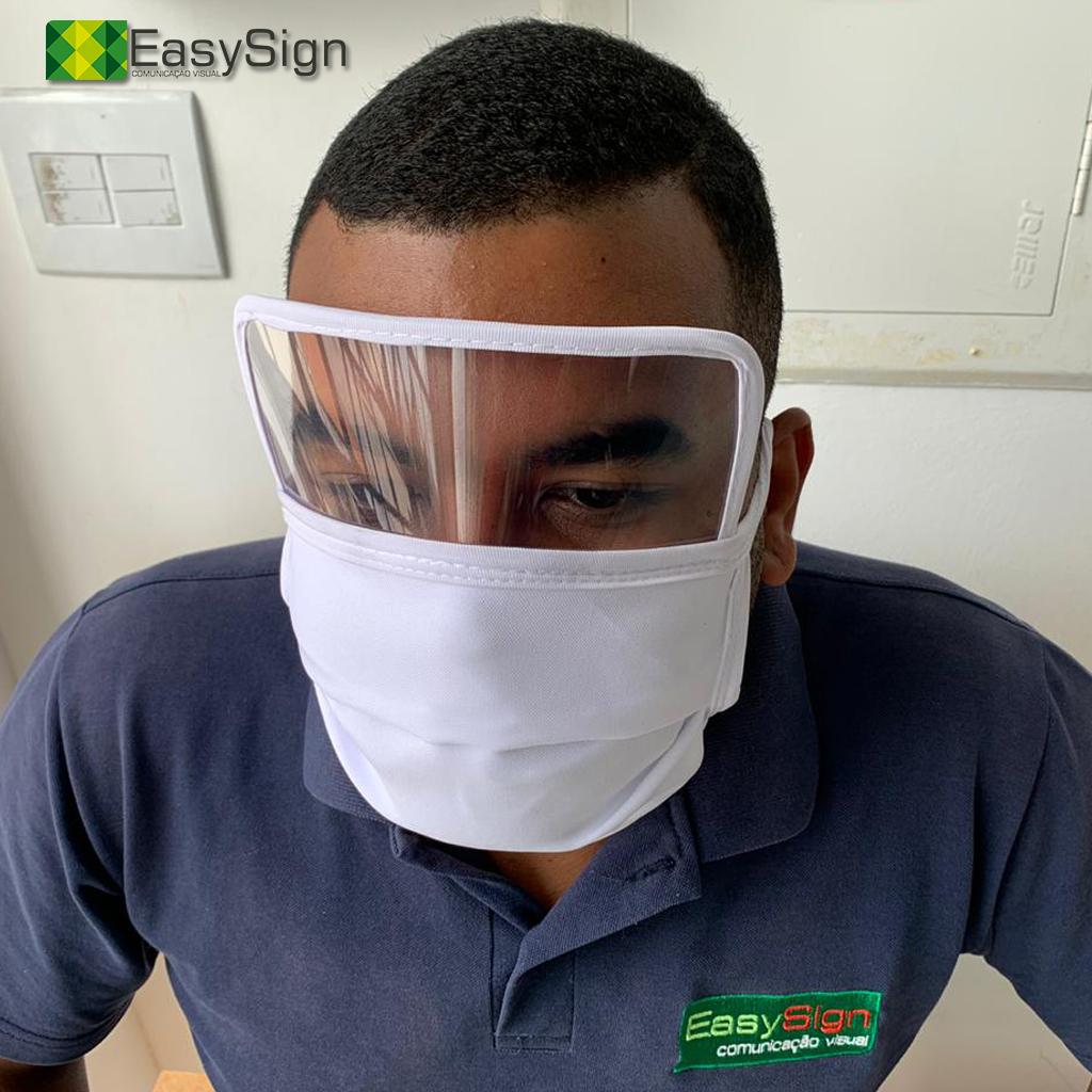 máscara tecido + visor