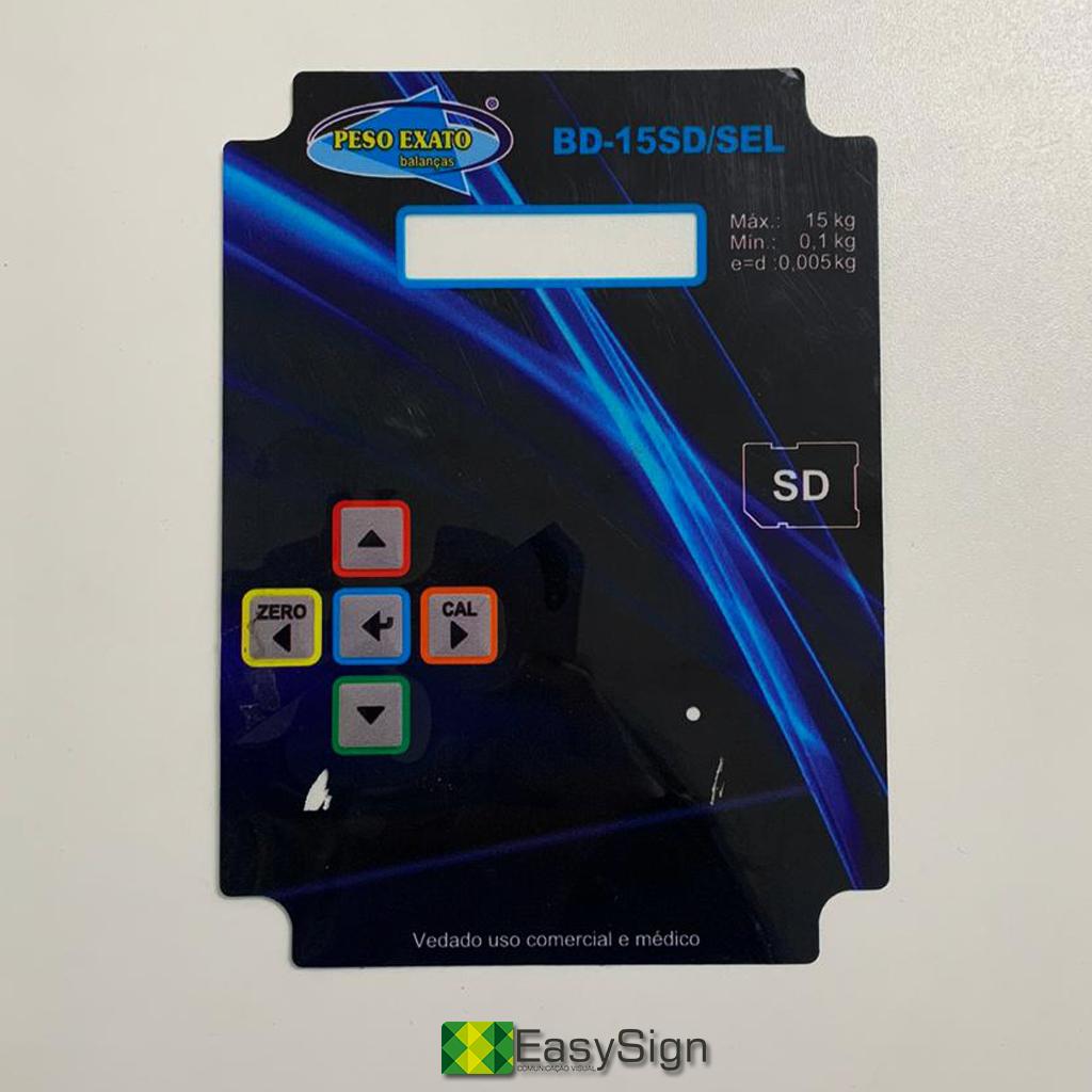 acetato plástico impressão
