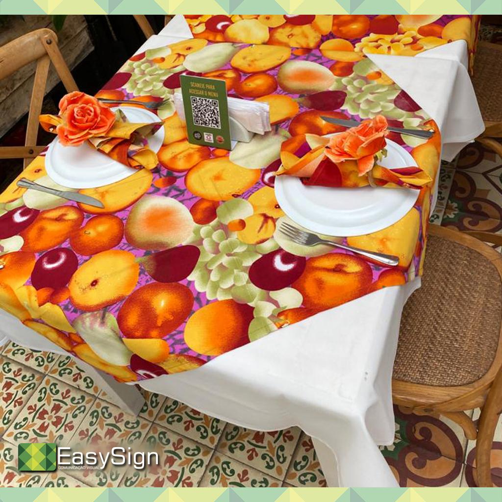impressão em tecido oxford para toalha de mesa
